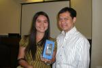 Sun.Star's Kat Cacho won a Nokia X7 during the raffles.